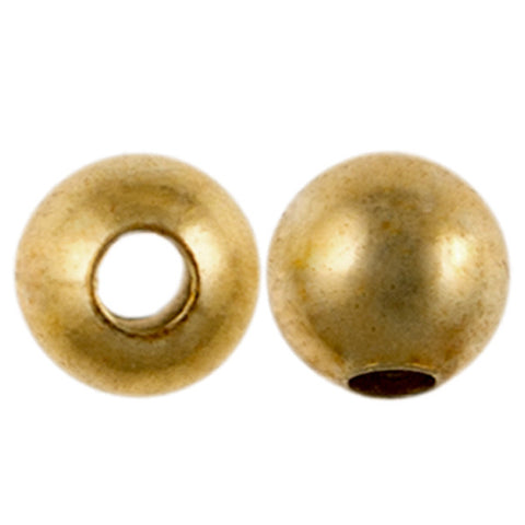 8mm Smooth Round MetalBeads-Gold (36 pieces)