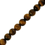"8mm Smooth round Tiger Eye (16"" Strand)"