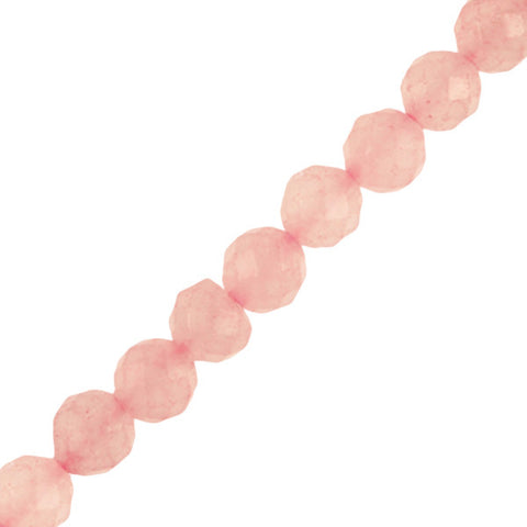 "8mm Round Faceted Rose Quartz (16"" Strand)"