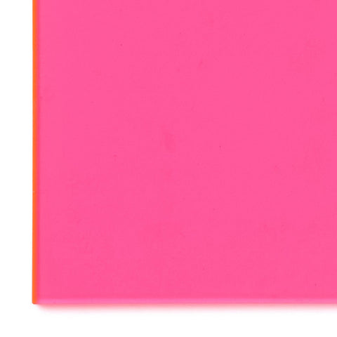 Acrylic Sheet, Florescent Pink/Red, Transparent (#9095)