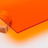 Acrylic Sheet, Transparent Amber (#2422)