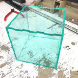 "Acrylic Sheet, Transparent Clear w/ Green Edge, ""Glass Green"" (#3030)"