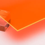 Acrylic Sheet, Florescent Orange, Transparent (#9096)