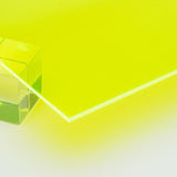 Acrylic Sheet, Florescent Green, Transparent (#9093)