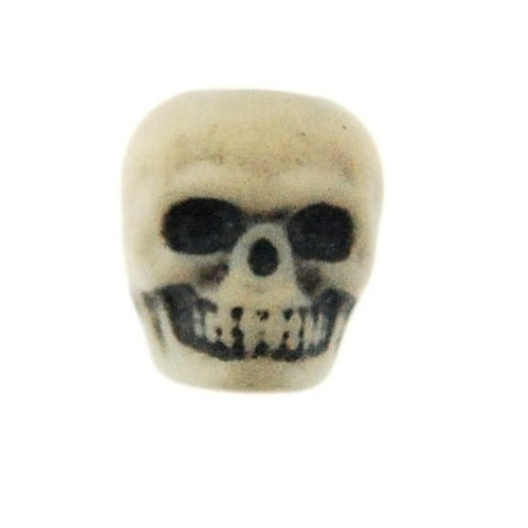 Skull Beads Antique Ivory (144 Pieces)