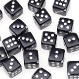 Dice Beads, 10mm Black (30 Pieces)