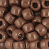 Pony Beads, 9x6mm, Opaque Brown (650 Pieces)