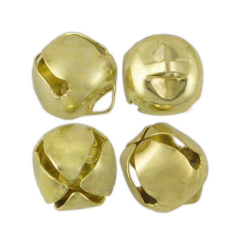 13mm (1/2 in) Jingle Bells (Gold) (144 Pieces)