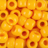 Pony Beads, 9x6mm, Opaque Goldenrod (650 Pieces)
