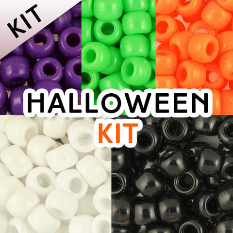 Pony Bead Kit: Halloween Colors (KIT)