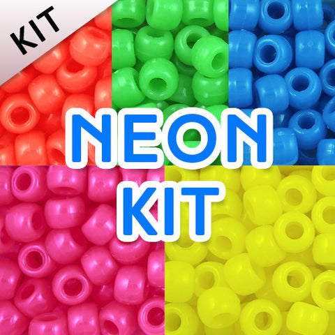 Pony Bead Kit: Neon Colors (KIT)