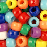 Pony Beads, 9x6mm, Opaque (Choose Color) (650 Pieces)