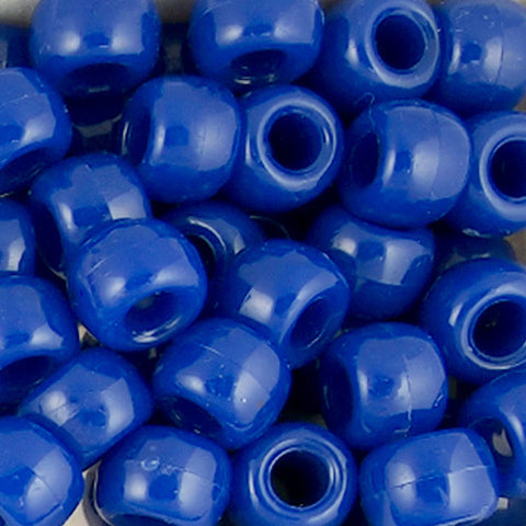 Pony Beads, 9x6mm, Opaque Royal Blue (650 Pieces)