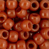 Pony Beads, 9x6mm, Opaque Rust (650 Pieces)