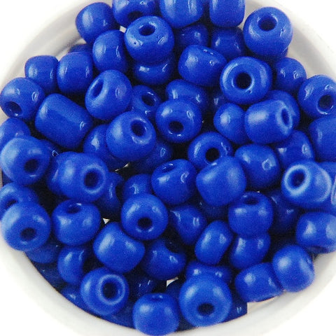 Round Seed Beads, Glass, Size 6/0 (Choose Color) (Approx. 1 LB)