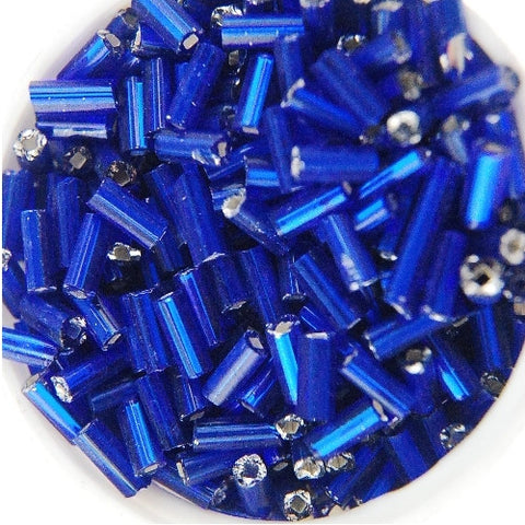 Czech Silver-Lined Bugle Beads (#2) 5MM (Choose Color) (125GM)