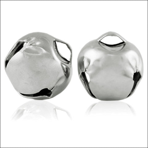 25mm (1in) Jingle Bells (Silver) (24 Pieces)