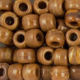 Pony Beads, 9x6mm, Opaque Tiger Eye (650 Pieces)