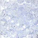 Tr. Crystal - Faceted Transparent Plastic Beads (Choose Size) (Pack)