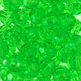 Tr. Lemon Lime - Faceted Transparent Plastic Beads (Choose Size) (Pack)