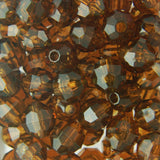 Tr. Brown - Faceted Transparent Plastic Beads (Choose Size) (Pack)