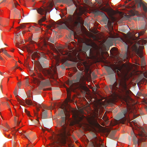 Tr. Tortoise - Faceted Transparent Plastic Beads (12mm)