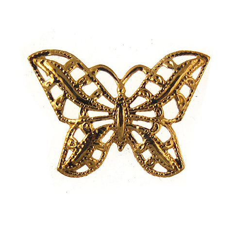 Vintage Butterly Stampings Gold Plated Charms - 44mm x 32mm (36PCS)