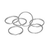 24mm Split Ring, Key Chain Ring, Imit. Rhodium  (72 Pieces)