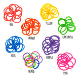 Rubber Loom Bands (Pink)-BULK PACK (7200 Pieces)