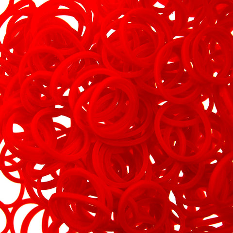 Rubber Loom Bands (Red)-BULK PACK (7200 Pieces)