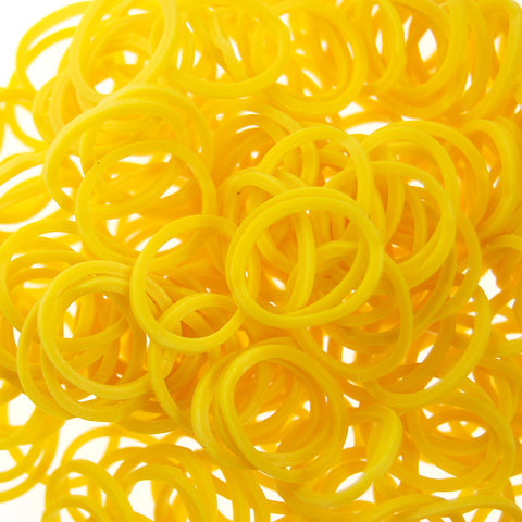 Rubber Loom Bands (Yellow)-BULK PACK (7200 Pieces)