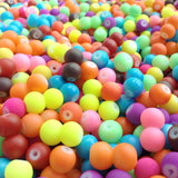 8mm Mixed Neon Coated Glass Beads (Pack)