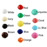10MM Faceted Beads Opaque-Choose Color (250 Pieces)