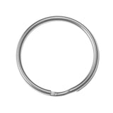 20mm Split Ring, Key Chain Ring, Imit. Rhodium  (72 Pieces)