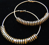 Crystal Hoop Earrings-Wholesale Kit (10mm Rondelles) (Crystal AB/Gold)