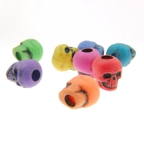 Skull Beads Assorted Mixed Colors (144 Pieces)