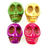 18mm Stone Skull Bead-Mixed Colors (22 Pieces)