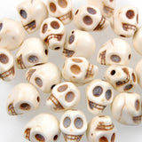 10mm Stone Skull Bead-Ivory (40 Pieces)