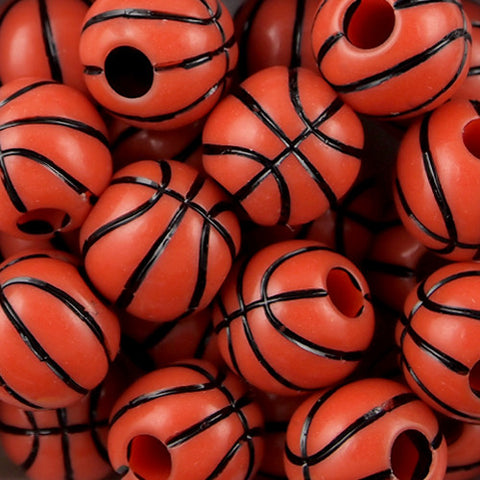 Basketball Beads  (60 Pieces)