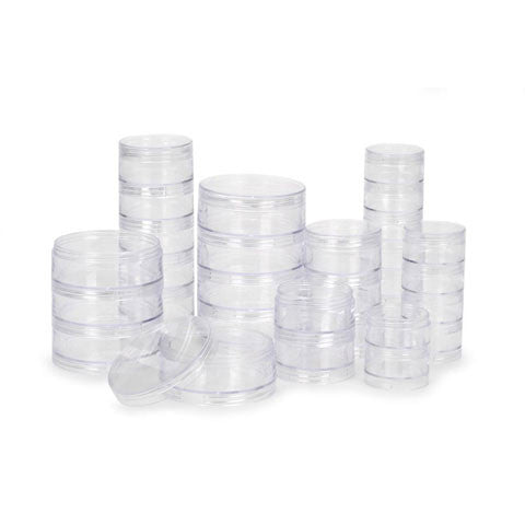 Stacking Interlocking Bead Containers - 6 Sizes (30 Pieces)