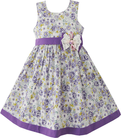 Girls Dress Butterfly Purple Wedding Size 2-10 Years