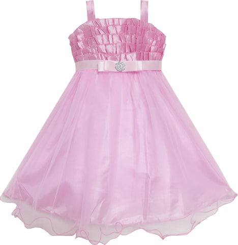 Girls Dress Pink Tull Tutu Dance Pageant Size 3-6 Years