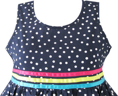 Girls Dress Navy Blue Butterfly Party Princess Size 4-12 Years