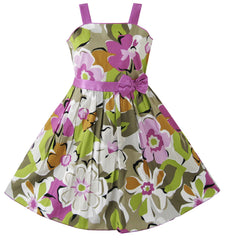 Girls Dress Purple Flower Party Pageant Size 4-12 Years