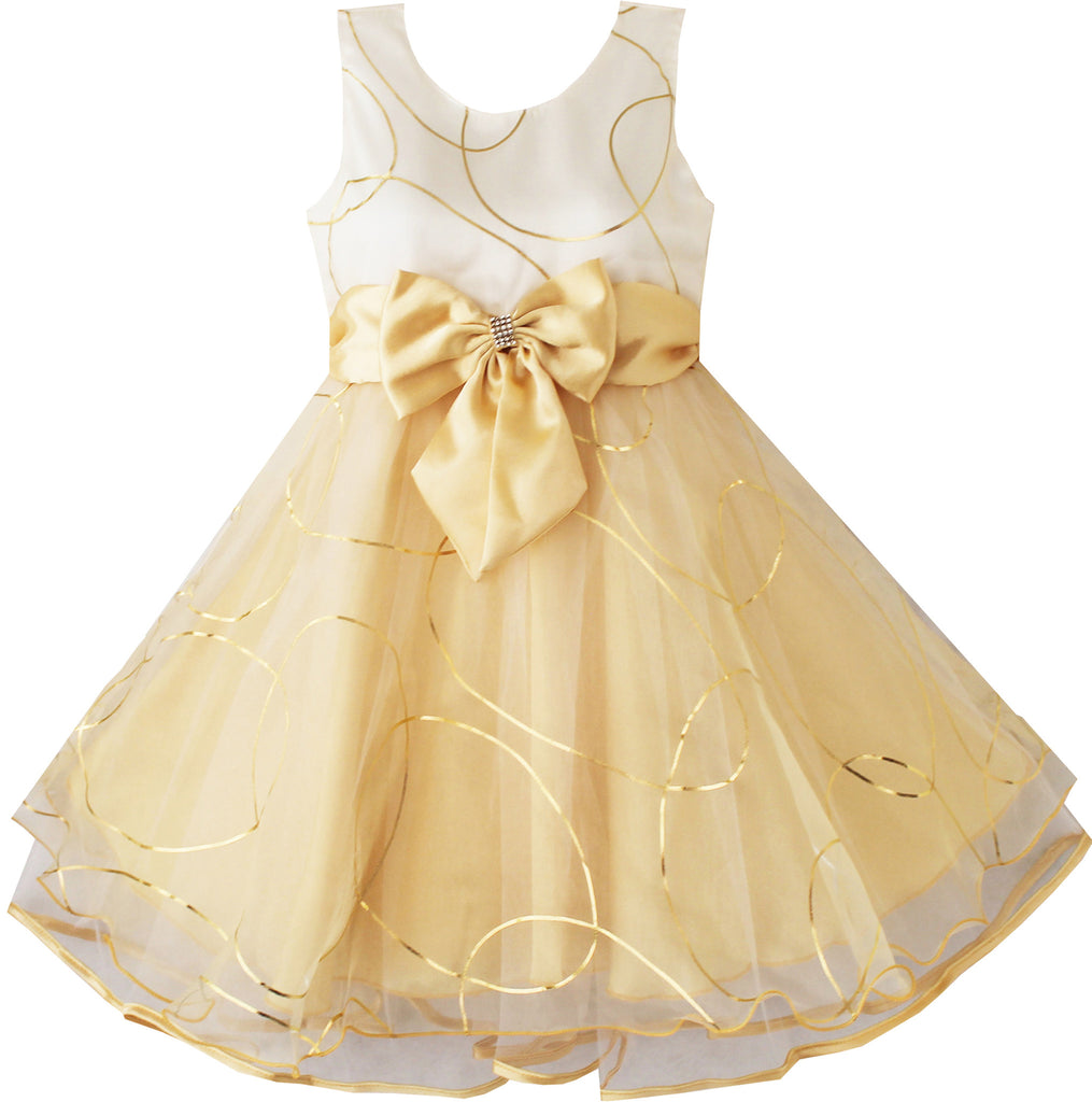 Girls Dress Champagne Multi-layers Wedding Pageant Size 2-10 Years