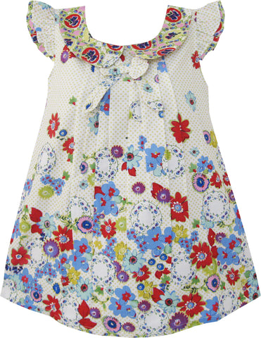 Girls Top Multi-Colored Floral Cute Kids Clothing