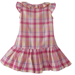 Girls Top T-shirt Plaids Embroidered Butterfly Child Clothes Size 2-6 Years