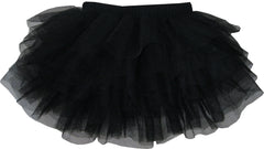 Girls Skirt Black Classic Tull Muti-layers Dancing TUTU Size 4-10 Years