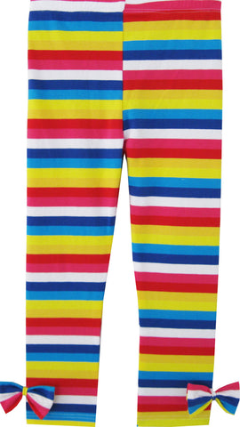 Girls Pants Colorful Striped Legging Butterfly Trousers Children Clothes Size 2-10 Years