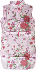 Girls Dress Artificial Silk Cheongsam Chinese Floral Children Clothing Size 12M-8 Years